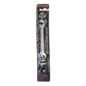 Зубная щётка мод Детская Панда арт  86 двухкомпонентная ручка, щетина мягкая, с присоской Ош