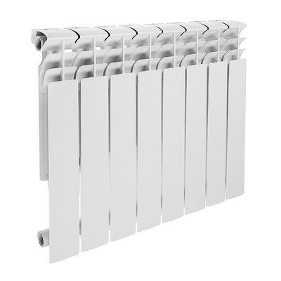Радиатор алюминиевый Lammin ECO, 500 х 100 мм, 8 секций