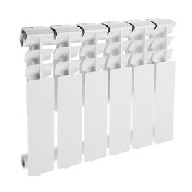 Радиатор алюминиевый Lammin ECO, 350 х 80 мм, 6 секций