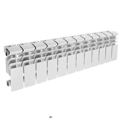 Радиатор алюминиевый Lammin ECO, 200 х 100 мм, 12 секций