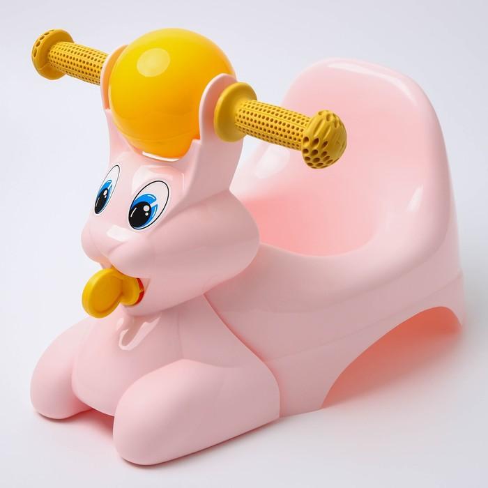 Горшок-игрушка «Зайчик», цвет розовый
