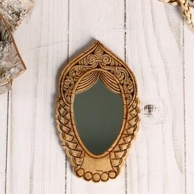 Зеркало «Девица»,13х8 см, береста Ош