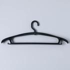 Вешалка-плечики, размер 48-50, с низким поворачивающимся крючком, цвет чёрный