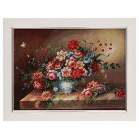 Картина из гобелена 'Букет пионов', 35х45 см Ош