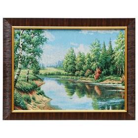 Картина из гобелена 'Лесной пруд' 35х45 см Ош