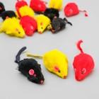 """Игрушка """"Мышь цветная"""" для кошек, 4,5-5 см, в пакете, фасовка по 24 шт., микс цветов"""