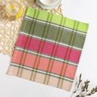 Полотенце вафельное Радуга 002 30х30 см, розово-зеленый, хлопок 100%, 220г/м2