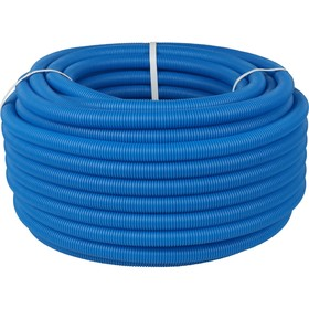 Труба гофрированная STOUT, d=20, без протяжки, бухта 50 м, синяя