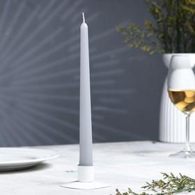 Свеча античная, 2,3х 24,5 см, серая