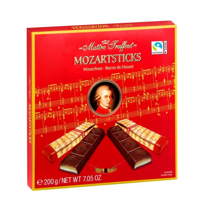 Батончики Maître Truffout миндальный и фисташковый марципан в тёмном шоколаде, 200 г
