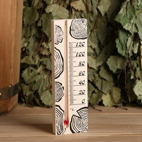 Термометр для бани, жидкостный, 165х50х15мм Ош