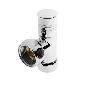 Вентиль угловой для полотенцесушителя 'СТМ' ТЕРМО, резьба вн/вн 1'х3/4', ручка круглая Ош