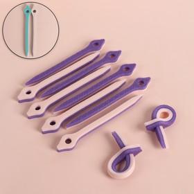 Бигуди с фиксатором, d = 1 см, 17 см, 10 шт, разноцветный