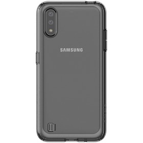 Чехол клип-кейс для Samsung Galaxy A01 araree A cover (GP-FPA015KDABR), черный