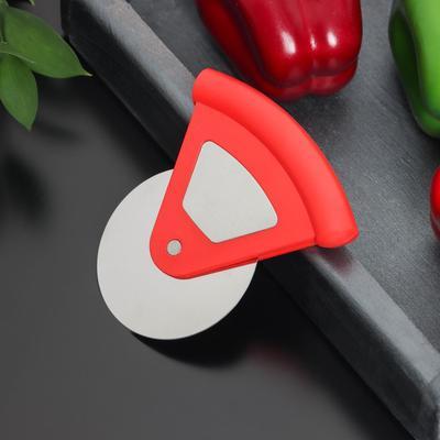 Нож для пиццы и теста «Бегунок», d=7,5 см, нержавеющая сталь, цвет МИКС
