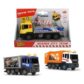 Городская техника Scania, кабина die-cast, 17 см, МИКС