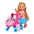 Кукла «Еви» 12 см, на прогулке с котятами