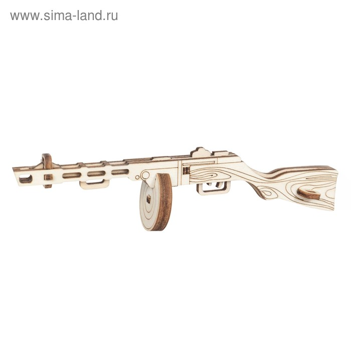 Детский деревянный конструктор «Пистолет-пулемёт», 9 деталей