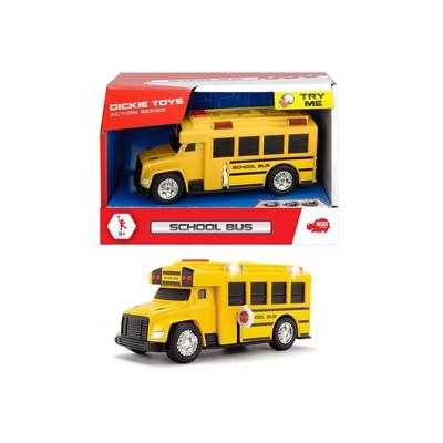 Школьный автобус со светом и звуком, 15 см - Фото 1