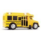Школьный автобус со светом и звуком, 15 см - Фото 3