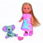 Кукла «Еви» 12 см, со слонёнком