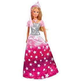 Кукла «Штеффи», в блестящем платье со звёздочками и тиарой, 29 см