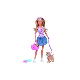 Кукла «Штеффи», прогулка с питомцами, 29 см