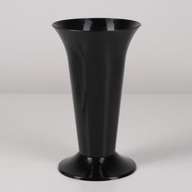 Ваза для цветов под срезку, 12,9×21,7 см, цвет чёрный
