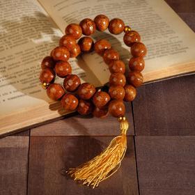 Чётки деревянные 30 бусин с кисточкой, цвет светло-коричневый Ош