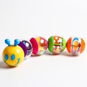 Игрушка развивающая «Гусеница», собери шары погремушки
