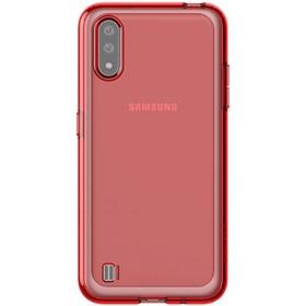 Чехол клип-кейс для Samsung Galaxy A01 araree A cover (GP-FPA015KDARR), красный