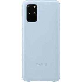 Чехол клип-кейс для Samsung Galaxy S20+ Leather Cover (EF-VG985LLEGRU), голубой