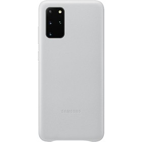 Чехол клип-кейс для Samsung Galaxy S20+ Leather Cover (EF-VG985LSEGRU), серебристый