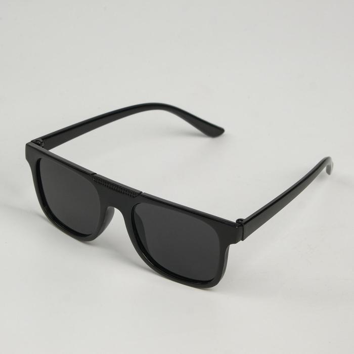 Очки солнцезащитные детские Мастер К., uv 400, 13х12.4х3.9 см, линза 3.3х4 см, чёрные