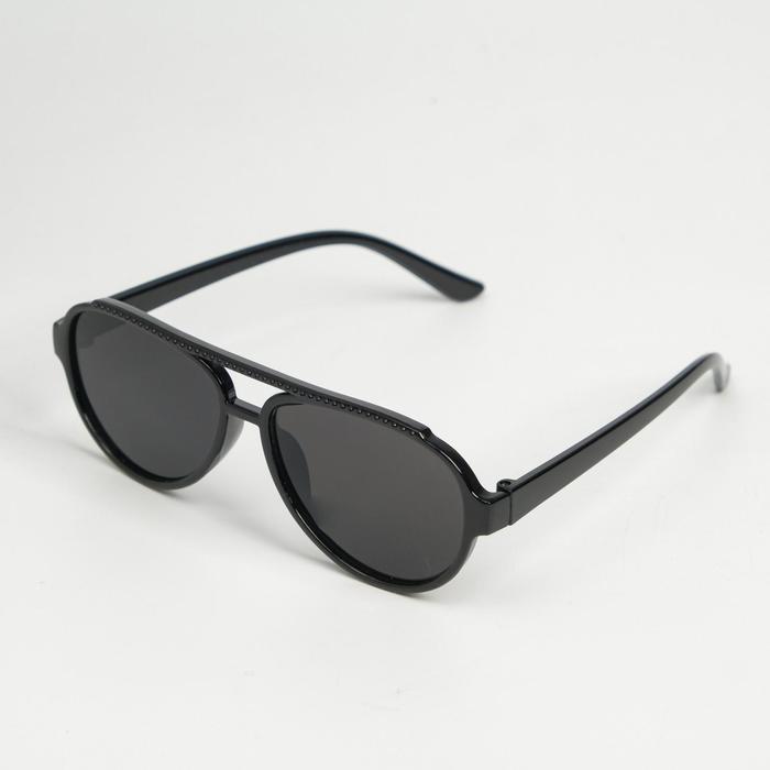 Очки солнцезащитные детские Мастер К., uv 400, 13х12.2х4.2 см, линза 3.3х4.4 см, чёрные