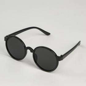 Очки солнцезащитные детские 'Мастер К.', uv 400, 13х12.5х4.6 см, линза 4.1х4.2 см, чёрные Ош