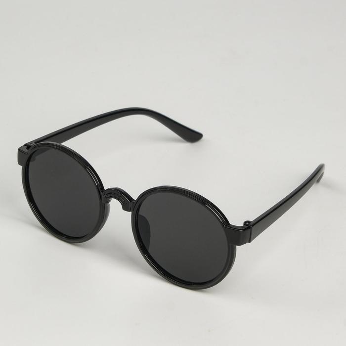 Очки солнцезащитные детские Мастер К., uv 400, 13х12.5х4.6 см, линза 4.1х4.2 см, чёрные