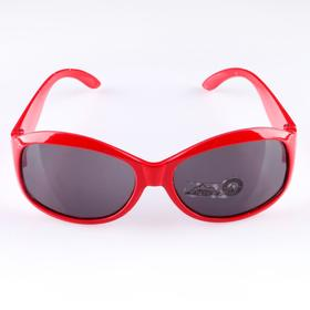 Очки солнцезащитные. спортивные, uv 400, 11х12х4.5 см, линза 3.6х5 см, красные Ош