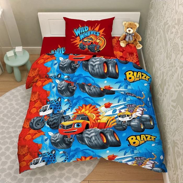Детское постельное бельё 1,5 «Крутые гонки», 150х215см, 145х215см, 70х70см - 1шт
