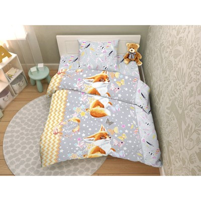 Детское постельное бельё 1,5 «Лисенок», 145х215, 150х214, 70х70 см - Фото 1