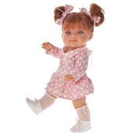 Кукла «Констация» в платьице в горошек, 38 см