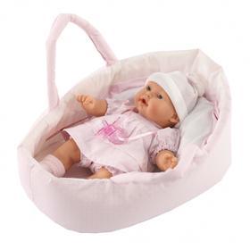 Кукла «Лана» в корзине, плачущая, 27 см