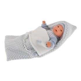 Кукла «Мерсе» в голубом» в конверте, плачущая, 27 см