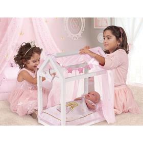 Кроватка для куклы с аксессуарами, 55 см