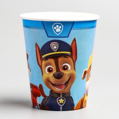 Стакан бумажный С днем рождения, щенячий патруль, 250 мл - Фото 1