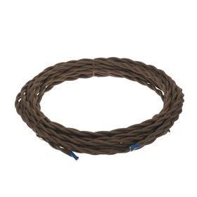 Ретро провод Luazon Lighting, 10 м, 2х1.5 мм2, коричневый