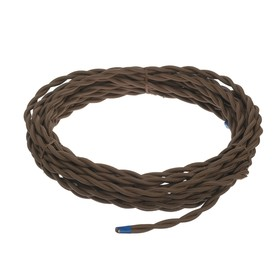 Ретро провод Luazon Lighting, 10 м, 2х2.5 мм2, коричневый