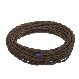 Ретро провод Luazon Lighting, 20 м, 2х2.5 мм2, коричневый