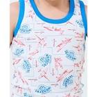 Комплект для мальчика из майки и трусов-боксеров, рост 122-128 см, цвет белый, голубой - Фото 3