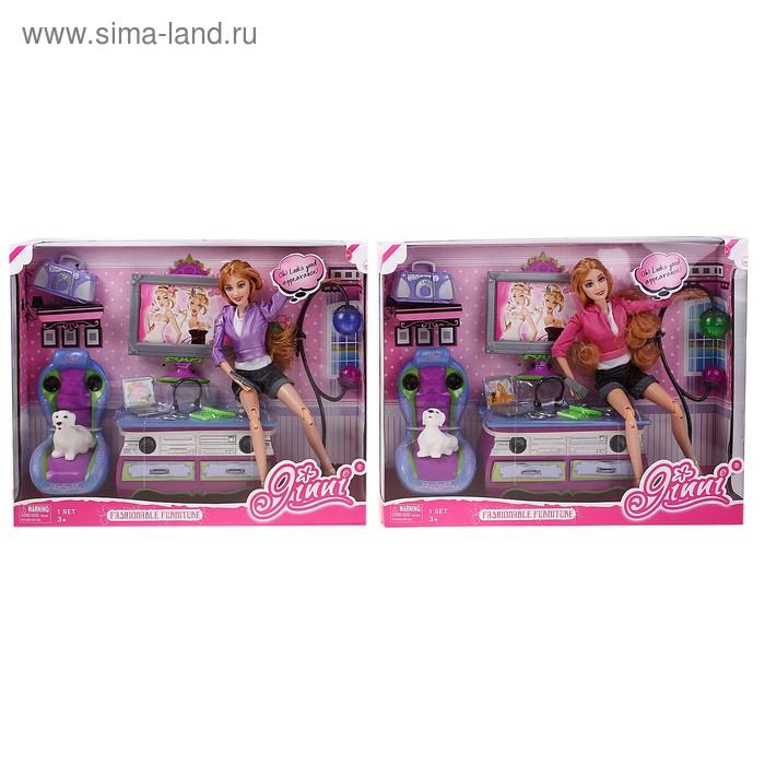 Кукла Джинни в гостиной с аксессуарами в кор.
